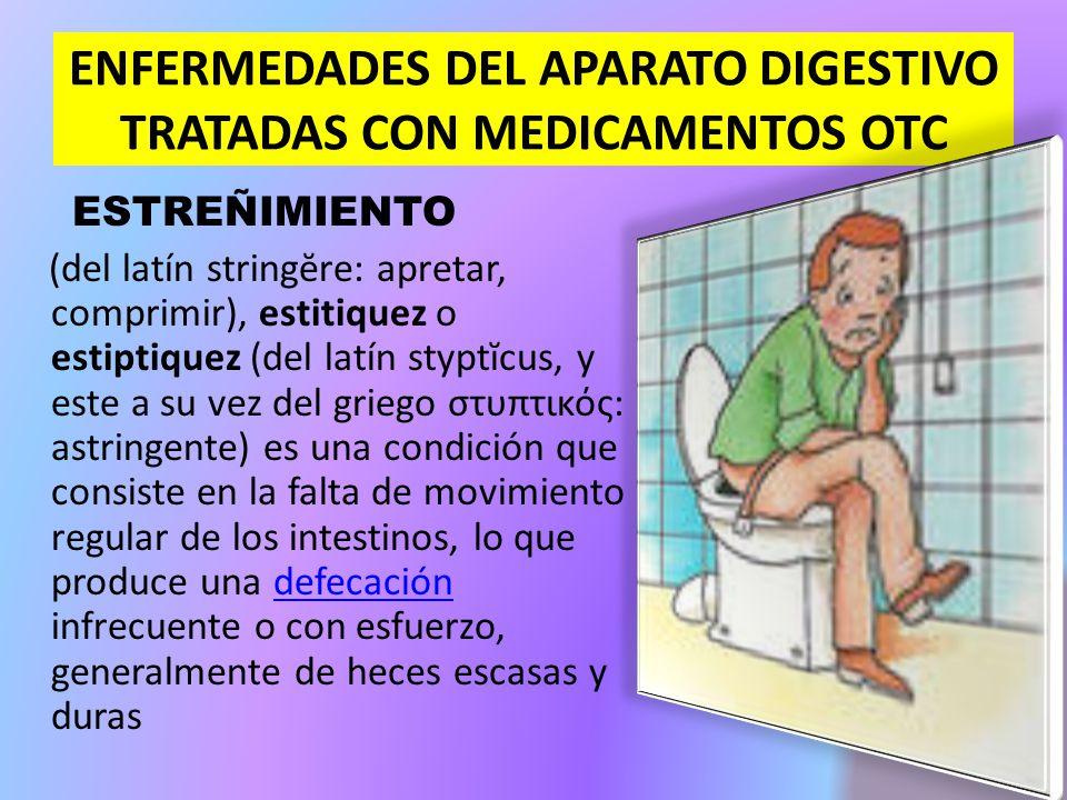 ENFERMEDADES DEL APARATO DIGESTIVO TRATADAS CON MEDICAMENTOS OTC