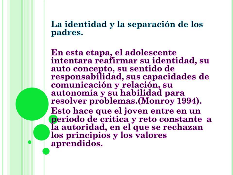 La identidad y la separación de los padres.