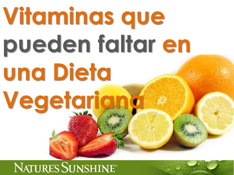 Vitaminas que pueden faltar en una Dieta Vegetariana