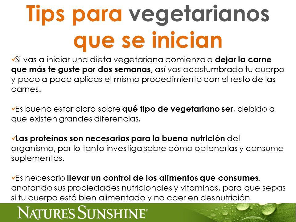 Tips para vegetarianos que se inician