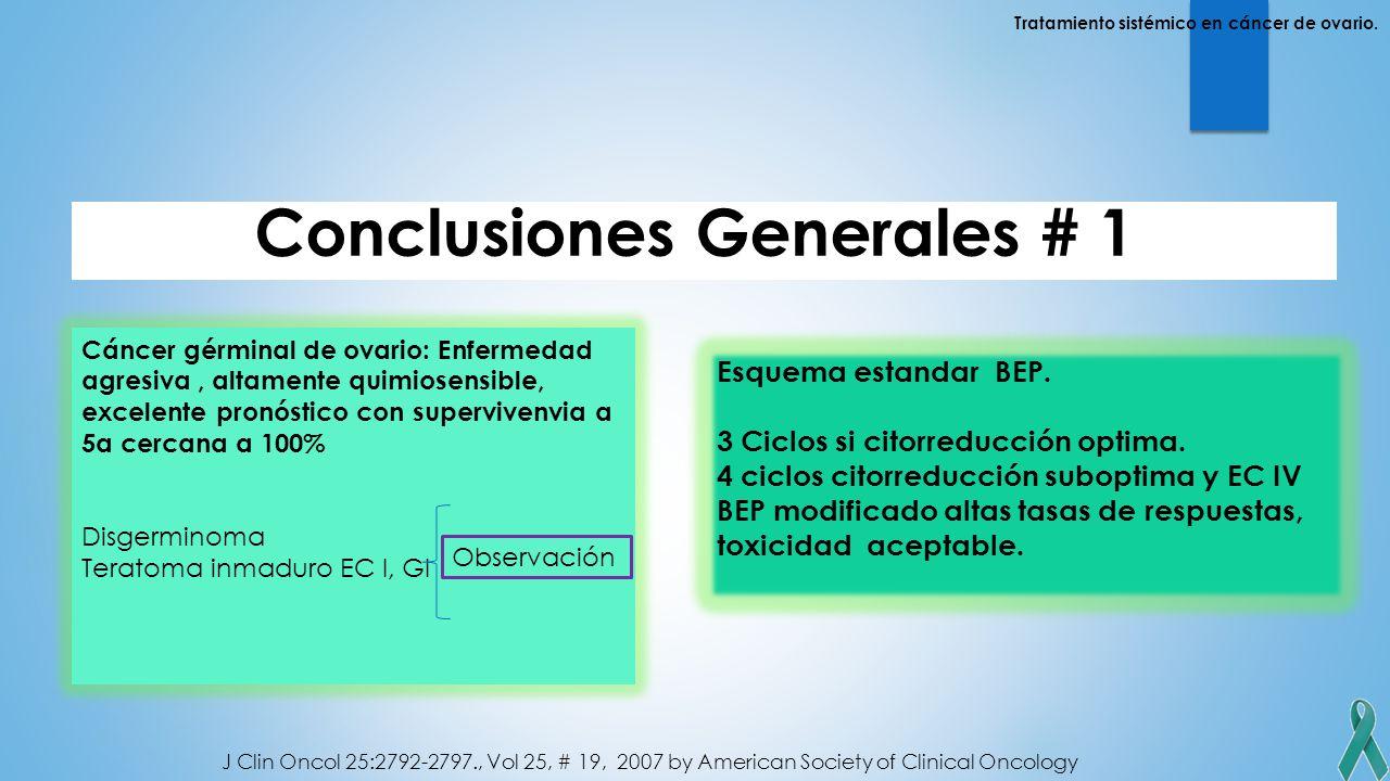 Conclusiones Generales # 1: