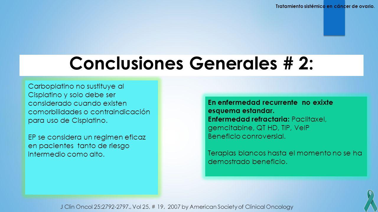 Conclusiones Generales # 2: