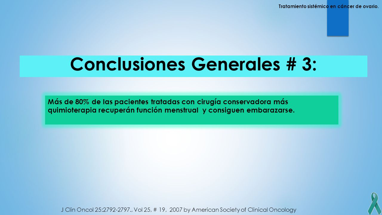 Conclusiones Generales # 3: