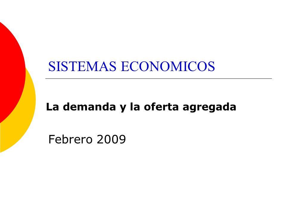 SISTEMAS ECONOMICOS La demanda y la oferta agregada Febrero 2009