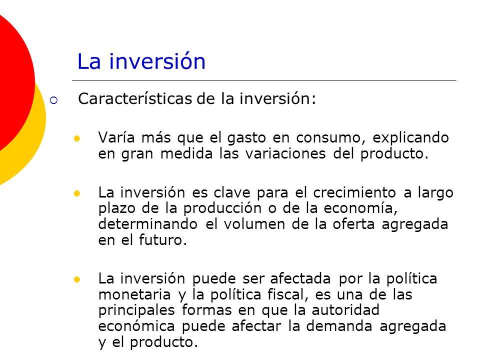 La inversión Características de la inversión: