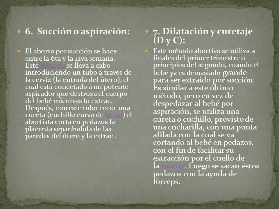 7. Dilatación y curetaje (D y C):