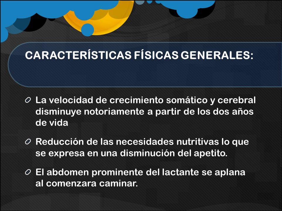 CARACTERÍSTICAS FÍSICAS GENERALES: