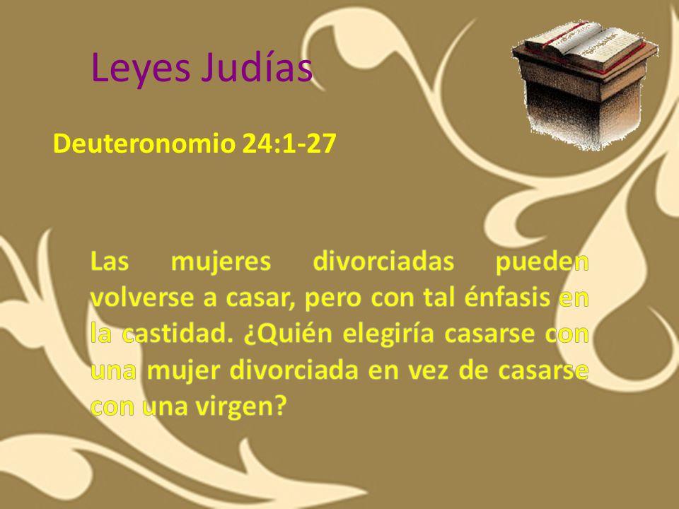 Leyes Judías Deuteronomio 24:1-27