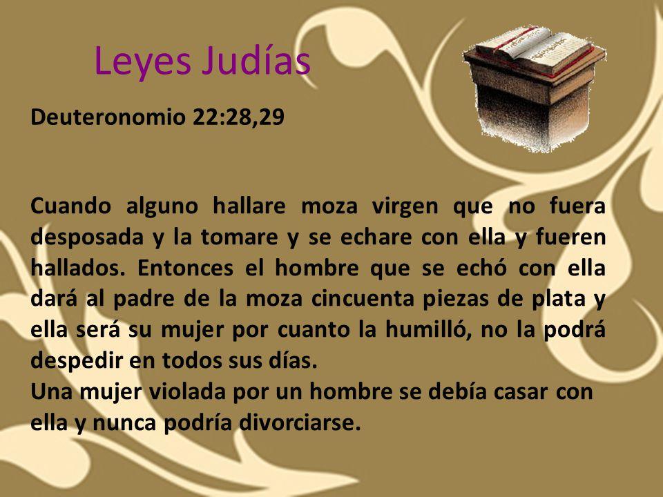 Leyes Judías Deuteronomio 22:28,29