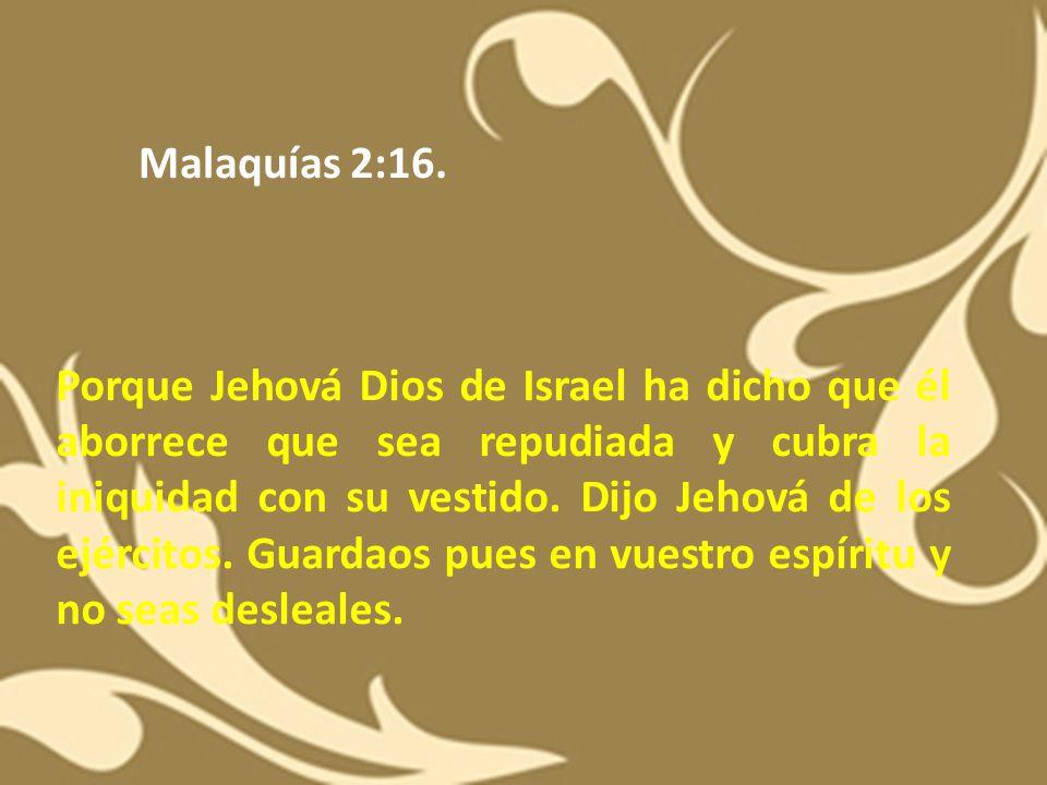 Malaquías 2:16.