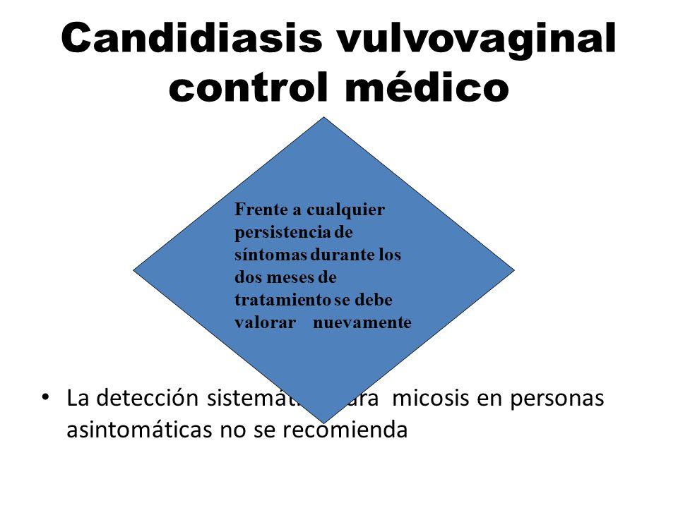 Candidiasis vulvovaginal control médico