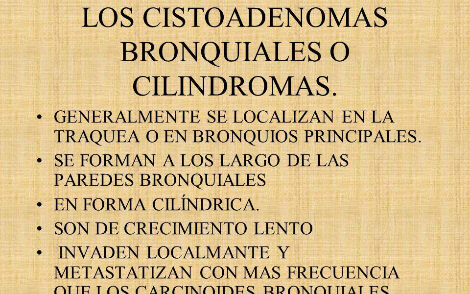 LOS CISTOADENOMAS BRONQUIALES O CILINDROMAS.