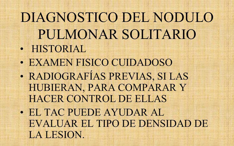 DIAGNOSTICO DEL NODULO PULMONAR SOLITARIO