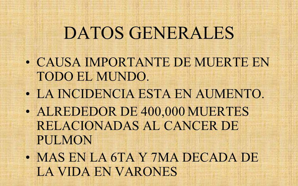 DATOS GENERALES CAUSA IMPORTANTE DE MUERTE EN TODO EL MUNDO.
