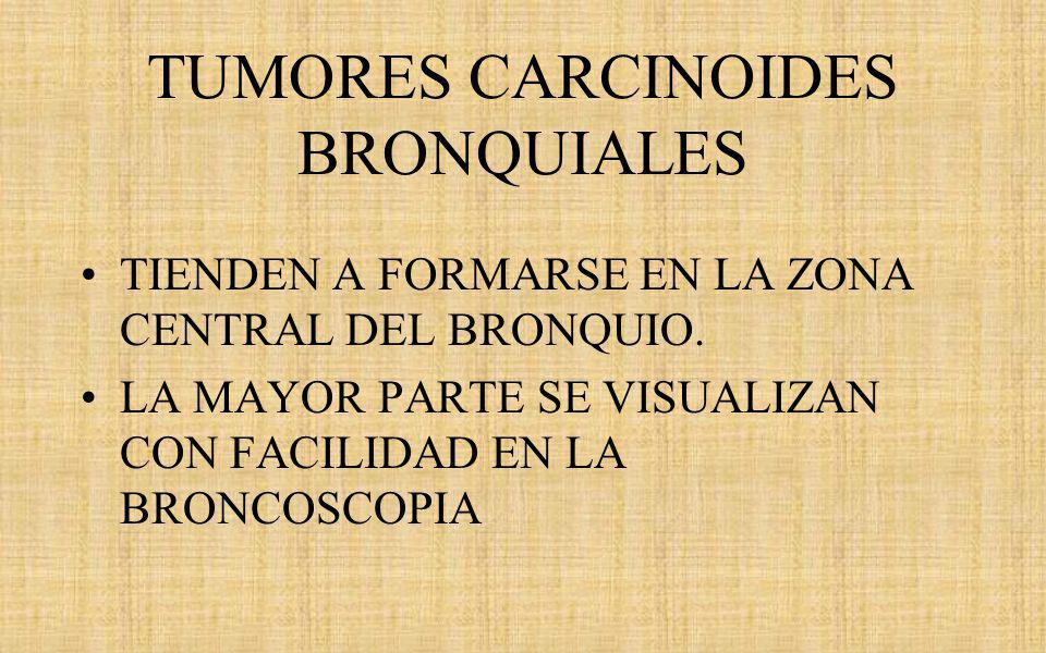 TUMORES CARCINOIDES BRONQUIALES
