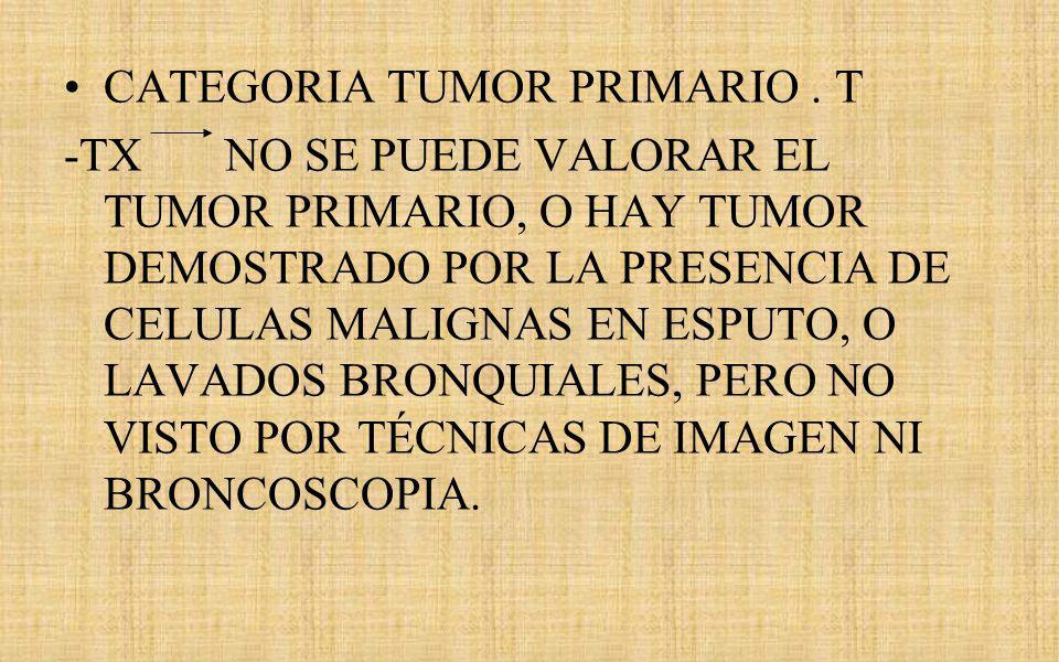 CATEGORIA TUMOR PRIMARIO . T