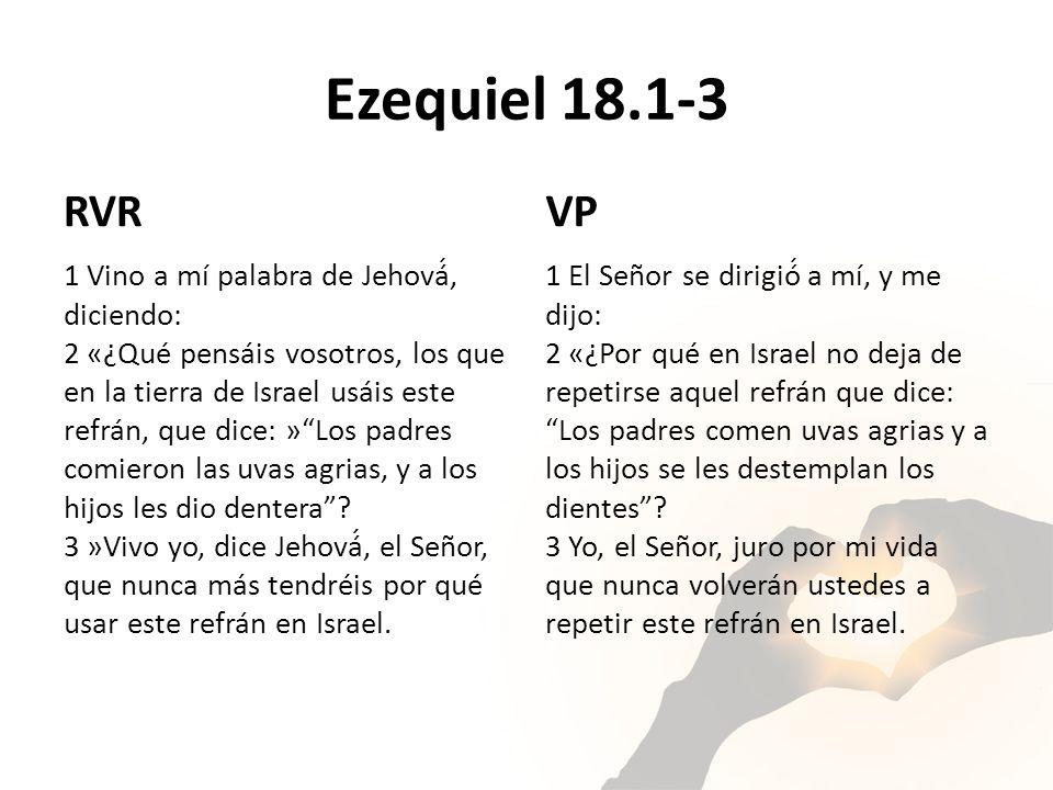 Ezequiel 18.1-3 RVR. VP.