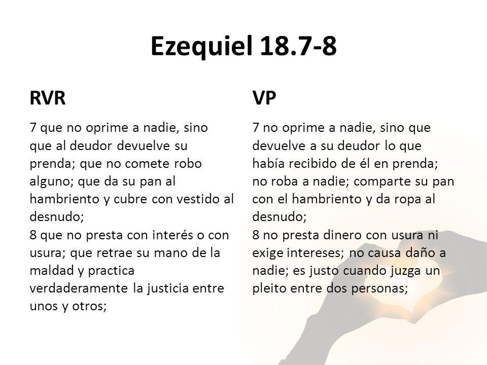 Ezequiel 18.7-8 RVR. VP.