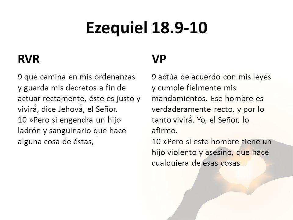 Ezequiel 18.9-10 RVR. VP.