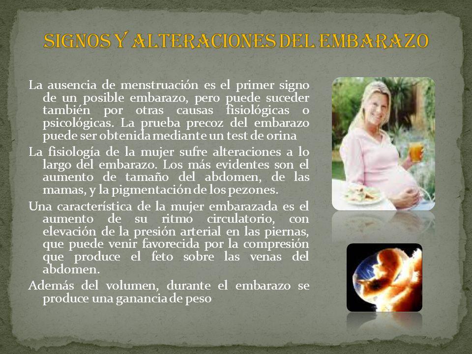 SIGNOS Y ALTERACIONES DEL EMBARAZO
