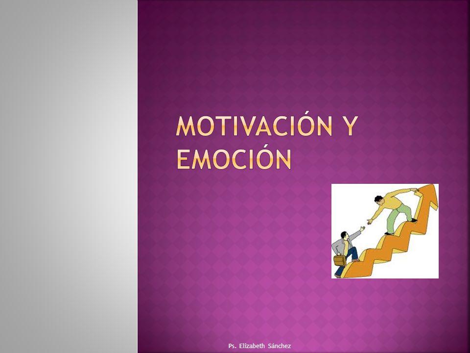 Motivación y emoción Ps. Elizabeth Sánchez