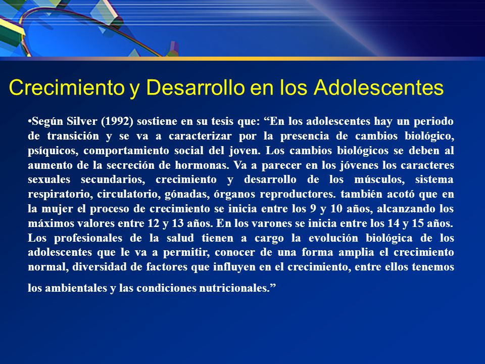 Crecimiento y Desarrollo en los Adolescentes