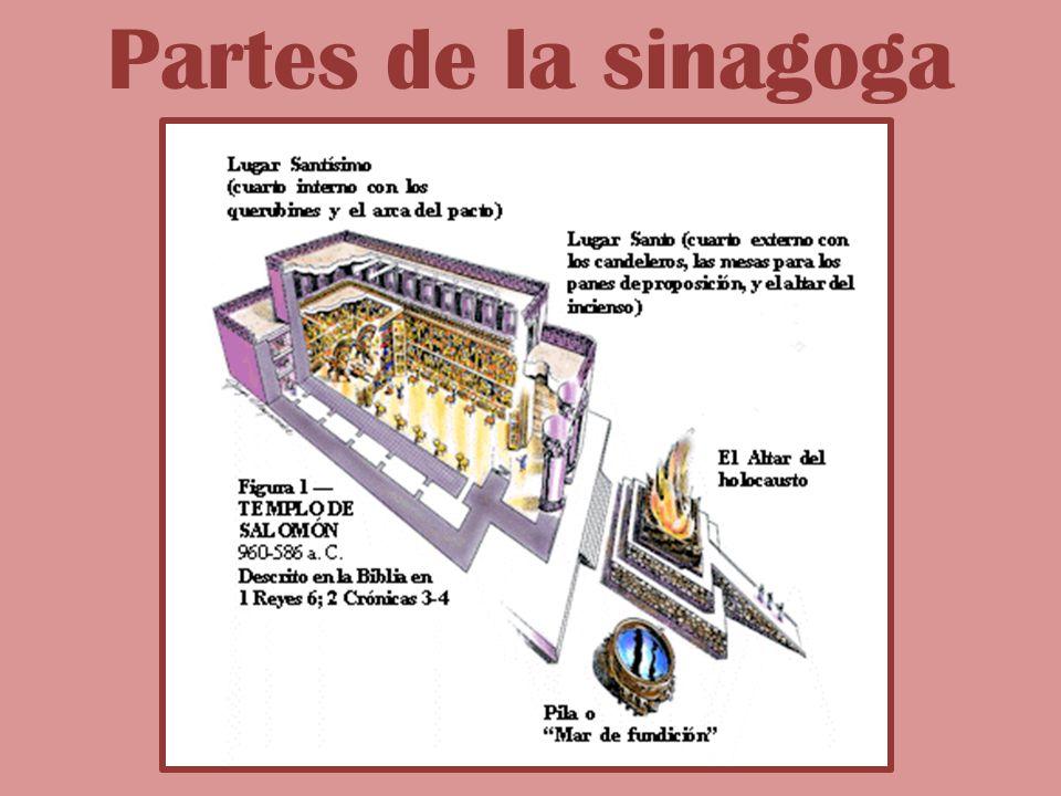 Partes de la sinagoga