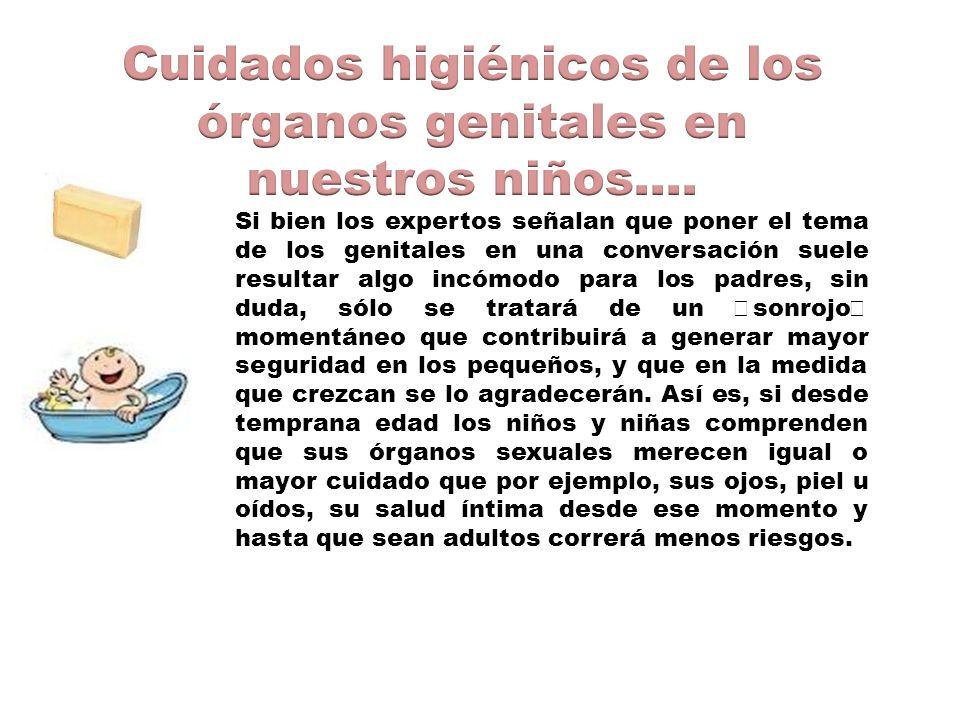 Cuidados higiénicos de los órganos genitales en nuestros niños….