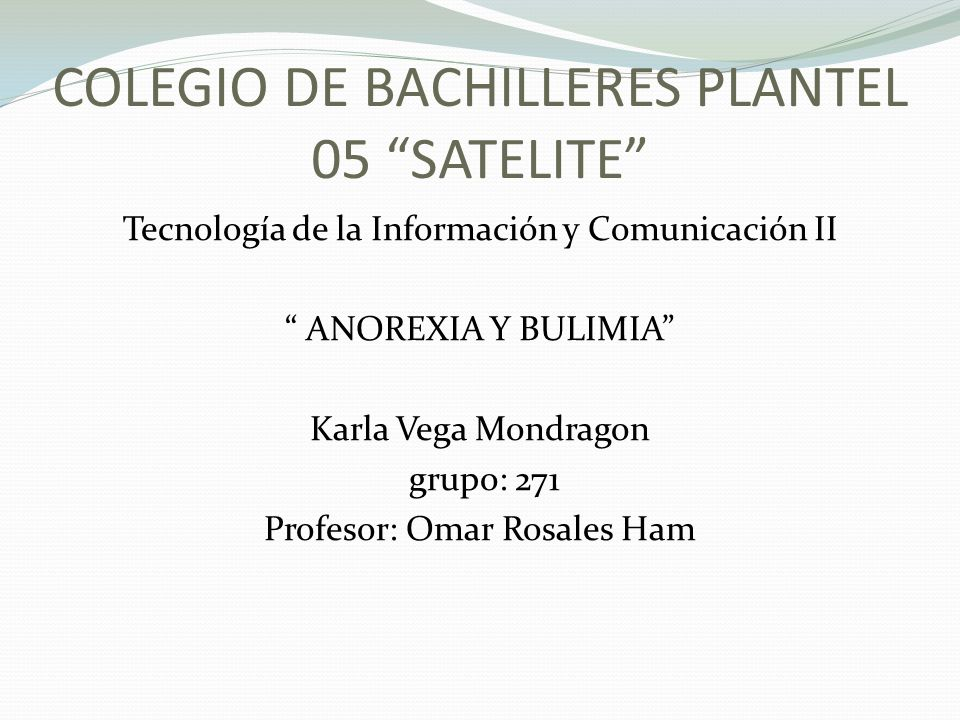 COLEGIO DE BACHILLERES PLANTEL 05 SATELITE