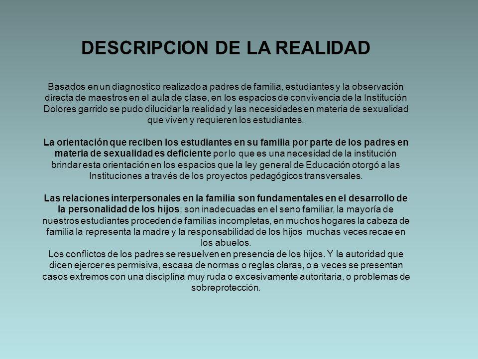DESCRIPCION DE LA REALIDAD