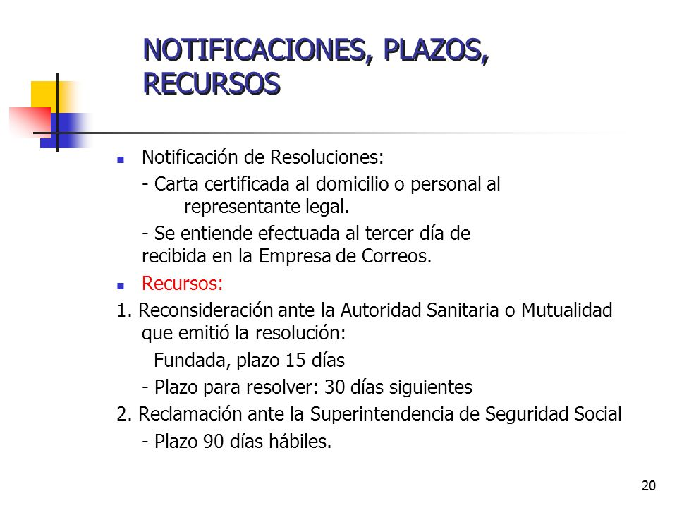 NOTIFICACIONES, PLAZOS, RECURSOS
