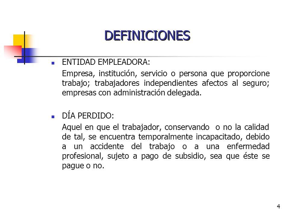DEFINICIONES ENTIDAD EMPLEADORA: