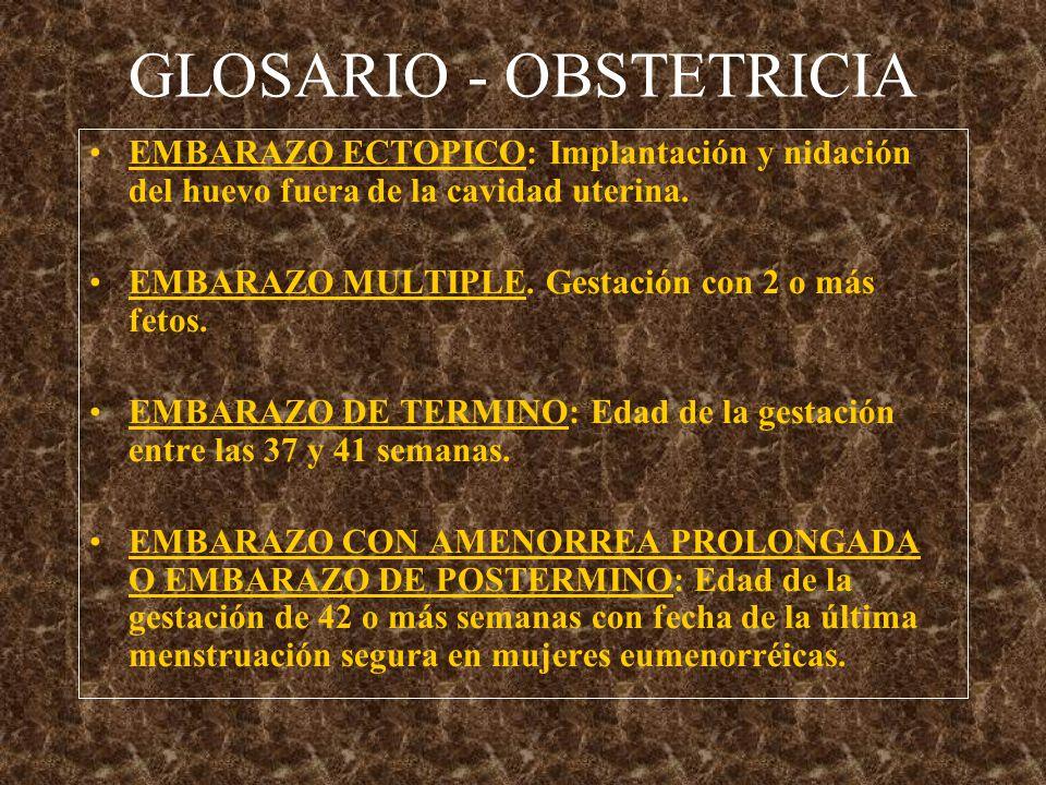 GLOSARIO - OBSTETRICIA