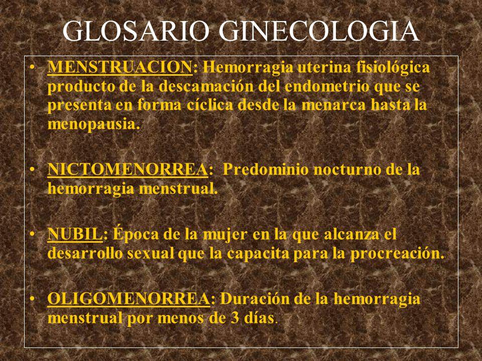 GLOSARIO GINECOLOGIA