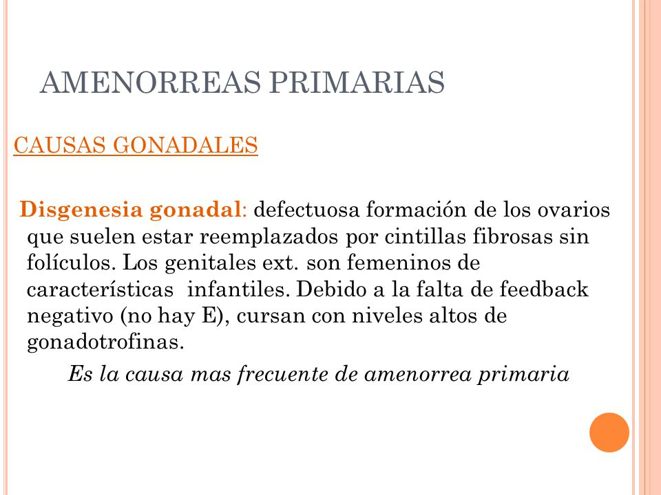 AMENORREAS PRIMARIAS