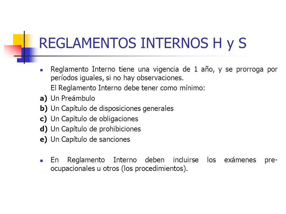 REGLAMENTOS INTERNOS H y S