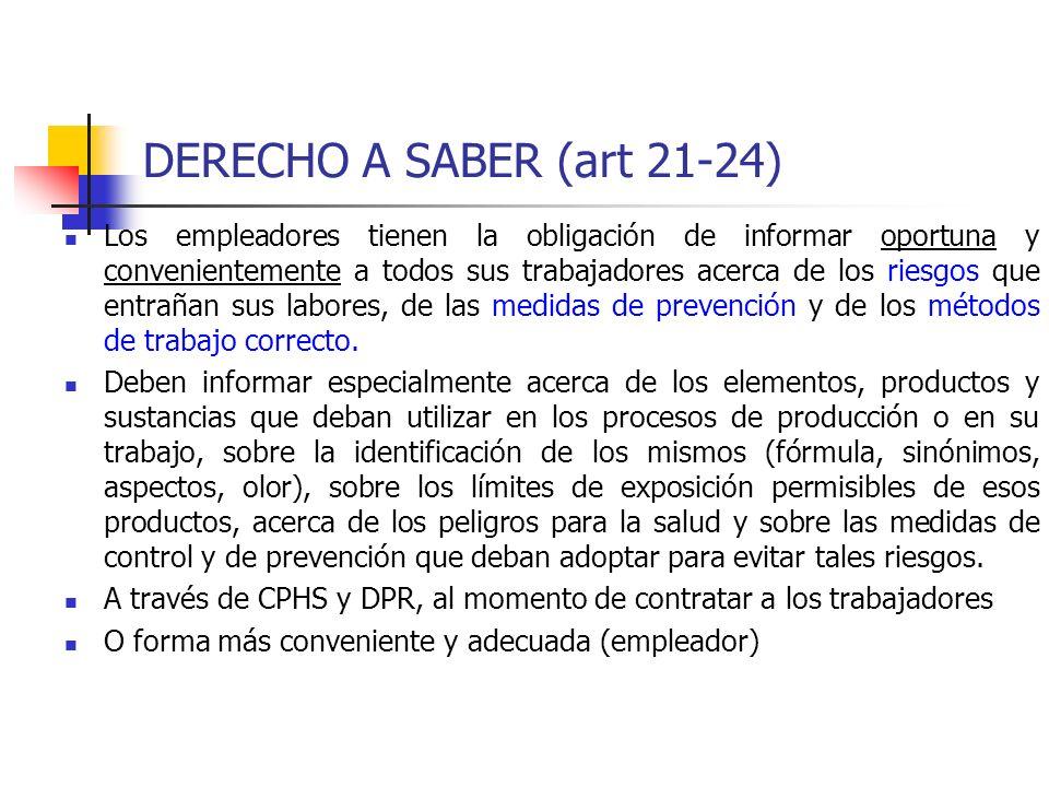 DERECHO A SABER (art 21-24)