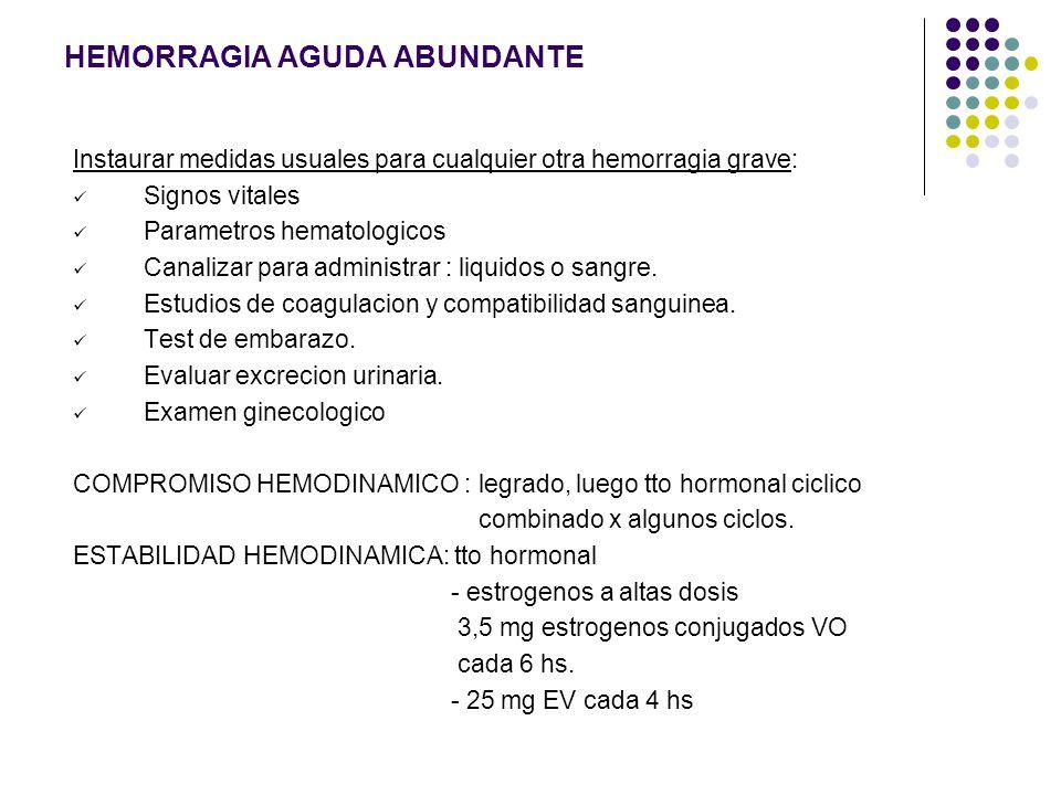 HEMORRAGIA AGUDA ABUNDANTE