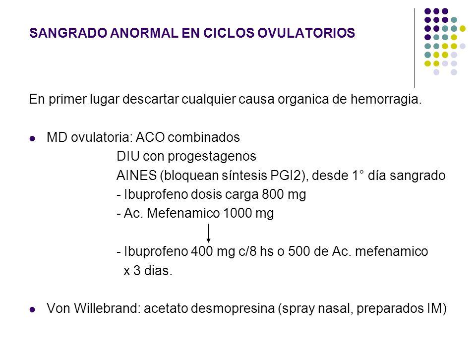 SANGRADO ANORMAL EN CICLOS OVULATORIOS