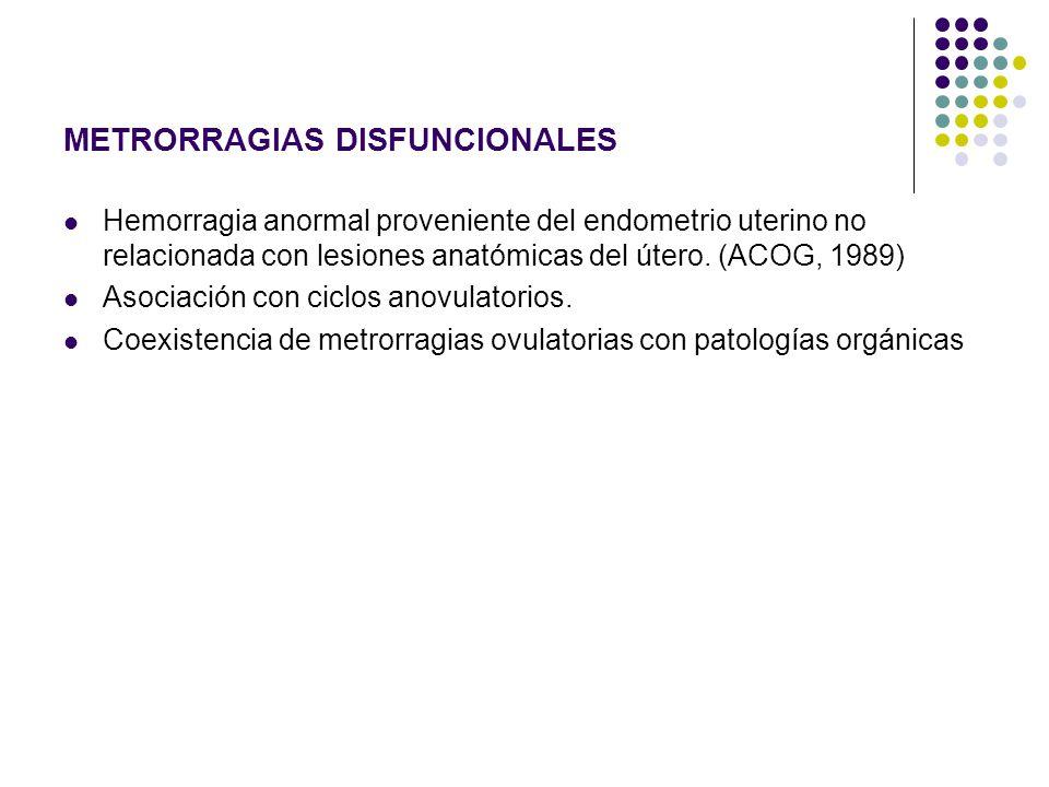 METRORRAGIAS DISFUNCIONALES