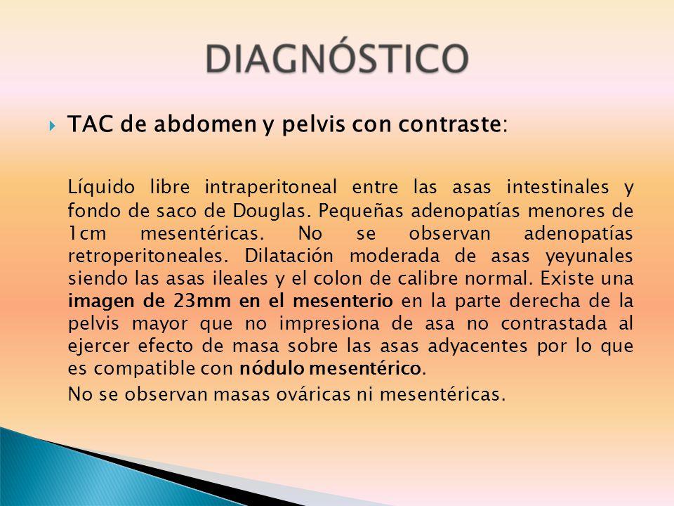 TAC de abdomen y pelvis con contraste: