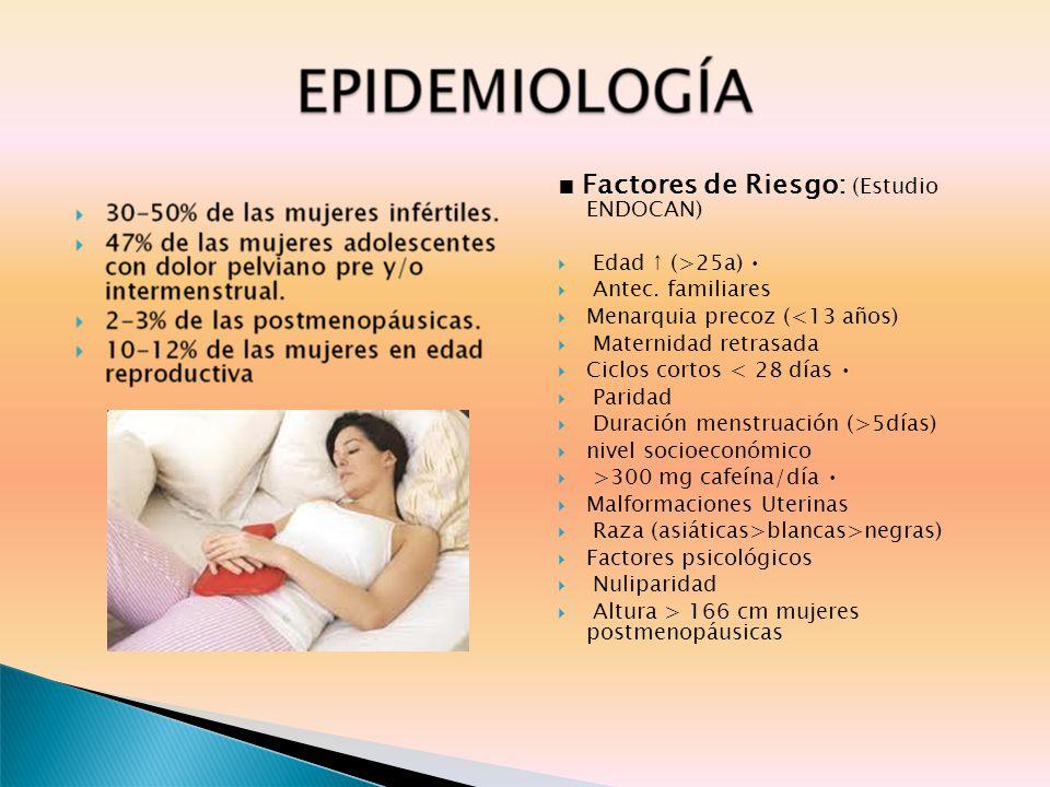■ Factores de Riesgo: (Estudio ENDOCAN)