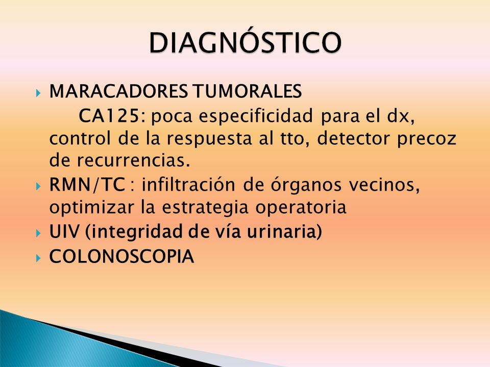 DIAGNÓSTICO MARACADORES TUMORALES