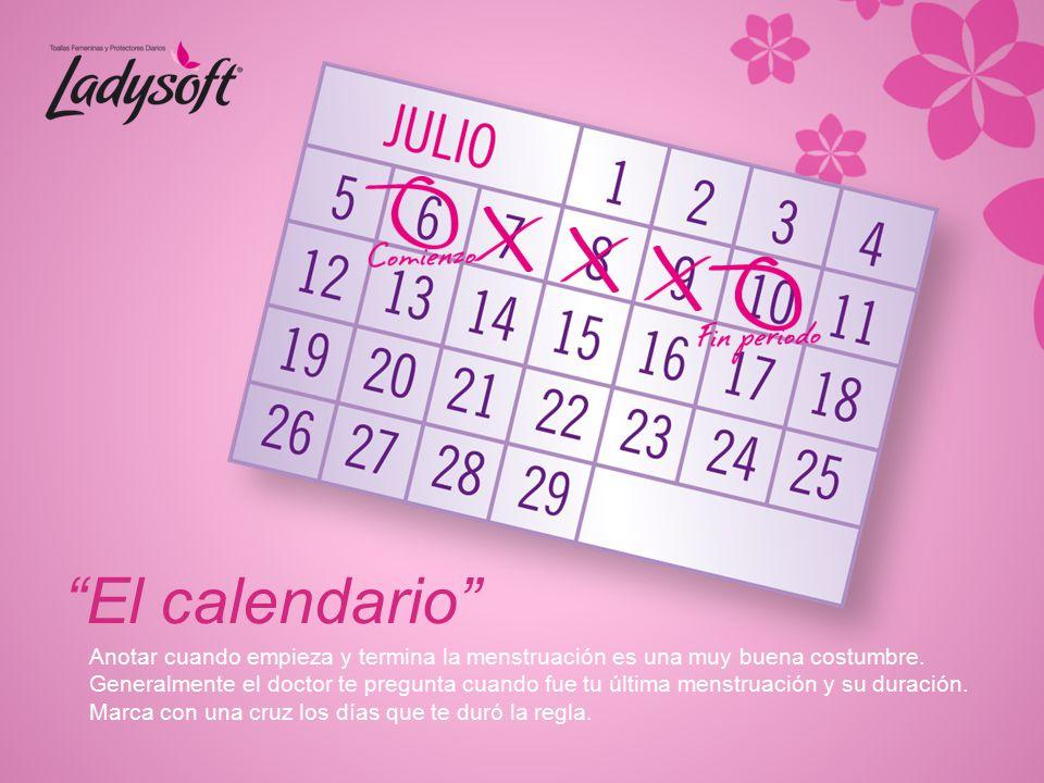 El calendario Anotar cuando empieza y termina la menstruación es una muy buena costumbre.