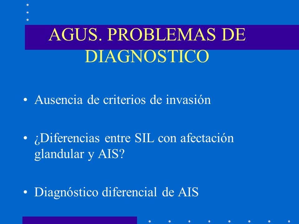 AGUS. PROBLEMAS DE DIAGNOSTICO