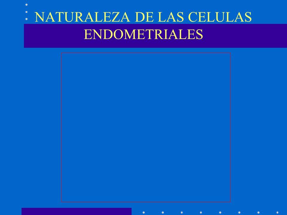 NATURALEZA DE LAS CELULAS ENDOMETRIALES