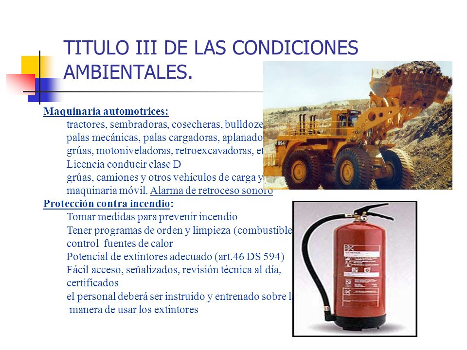 TITULO III DE LAS CONDICIONES AMBIENTALES.