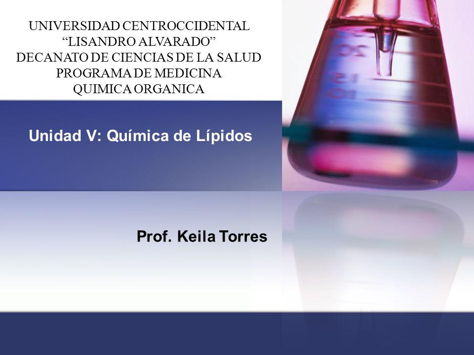 Unidad V: Química de Lípidos