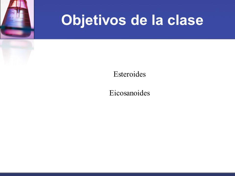 Objetivos de la clase Esteroides Eicosanoides