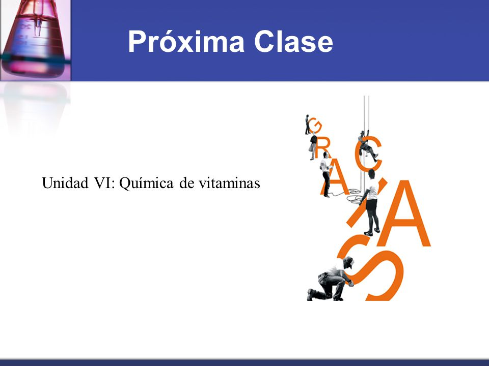Unidad VI: Química de vitaminas